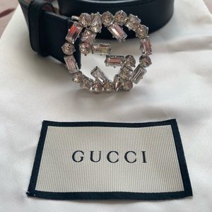Swarovski Crystal Gucci belt